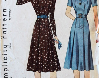 1930s Dress Pattern - Vintage Simplicity 3218 Sewing Pattern - Bust 32