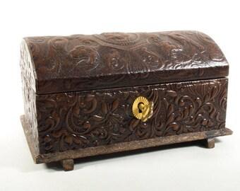 Vintage 80s jewellery box, Trinket box,