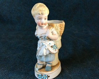 Vintage Dutch Farm Girl Figural Vase