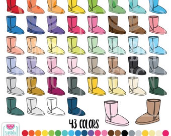 43 Doodle Ugg Boots Clipart. Personal and comercial use.