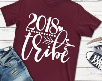 New Year SVG - 2018 Tribe SVG - Happy New Year SVG - 2018 svg - Files for Silhouette Studio/Cricut Design Space