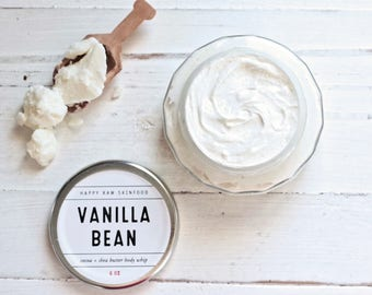 Body Butter - Vanilla Bean // Whipped Cocoa Butter // Whipped Shea Butter // Organic Skincare // Natural Body Cream
