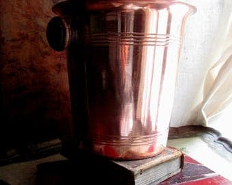 Copper champagne cooler wine bucket french vintage seau à champagne wine bucket vintage ice bucket