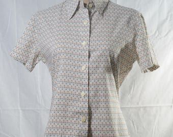 Vintage United Colors of Benetton windmill pattern printed shirt
