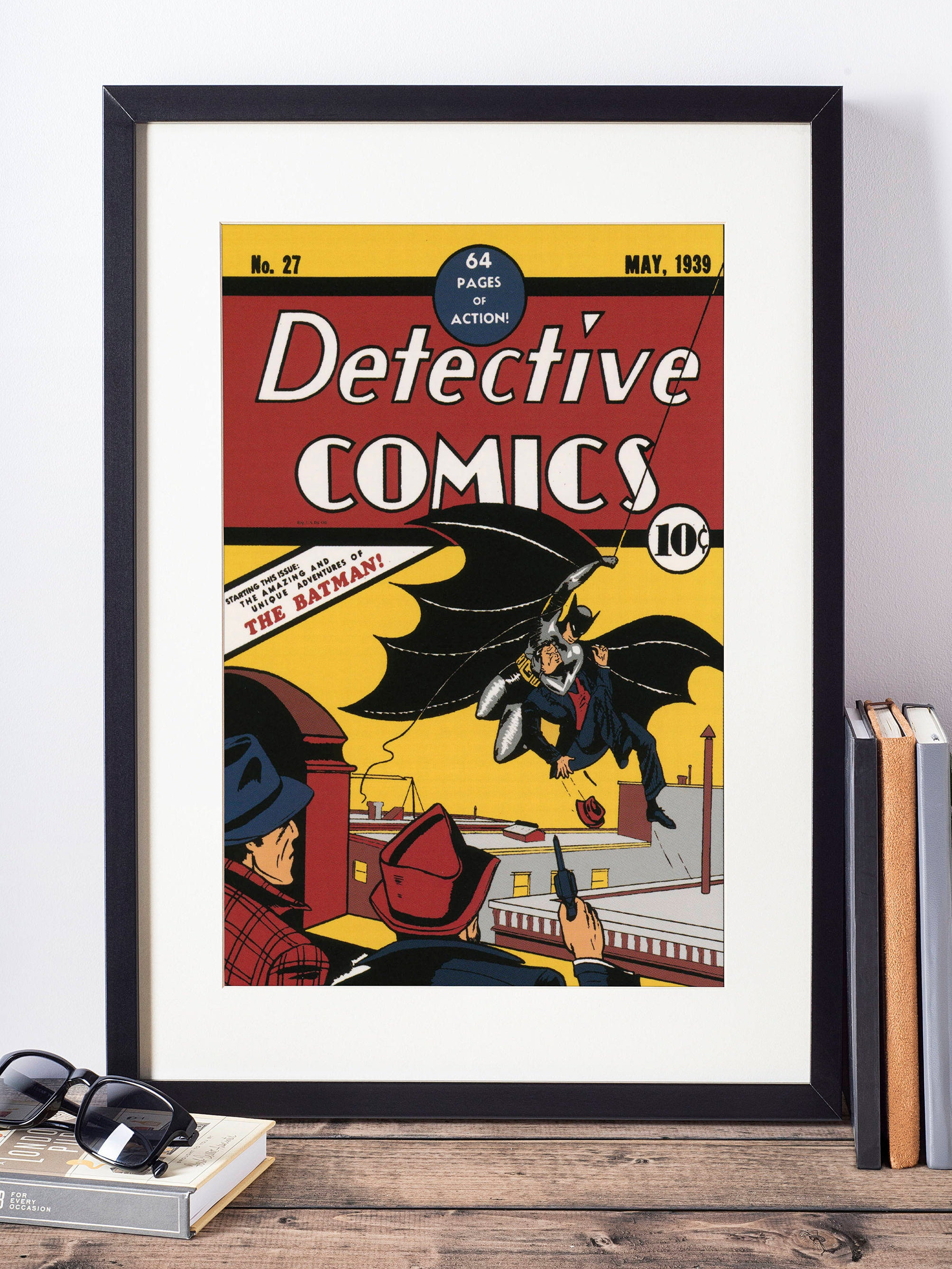 DC Comics Wall Art / Batman Wall Decor / Superhero Poster / Nerdy Gift /  Geekery / Batman Wall Art / Superhero Nursery Decor / Geeky Art