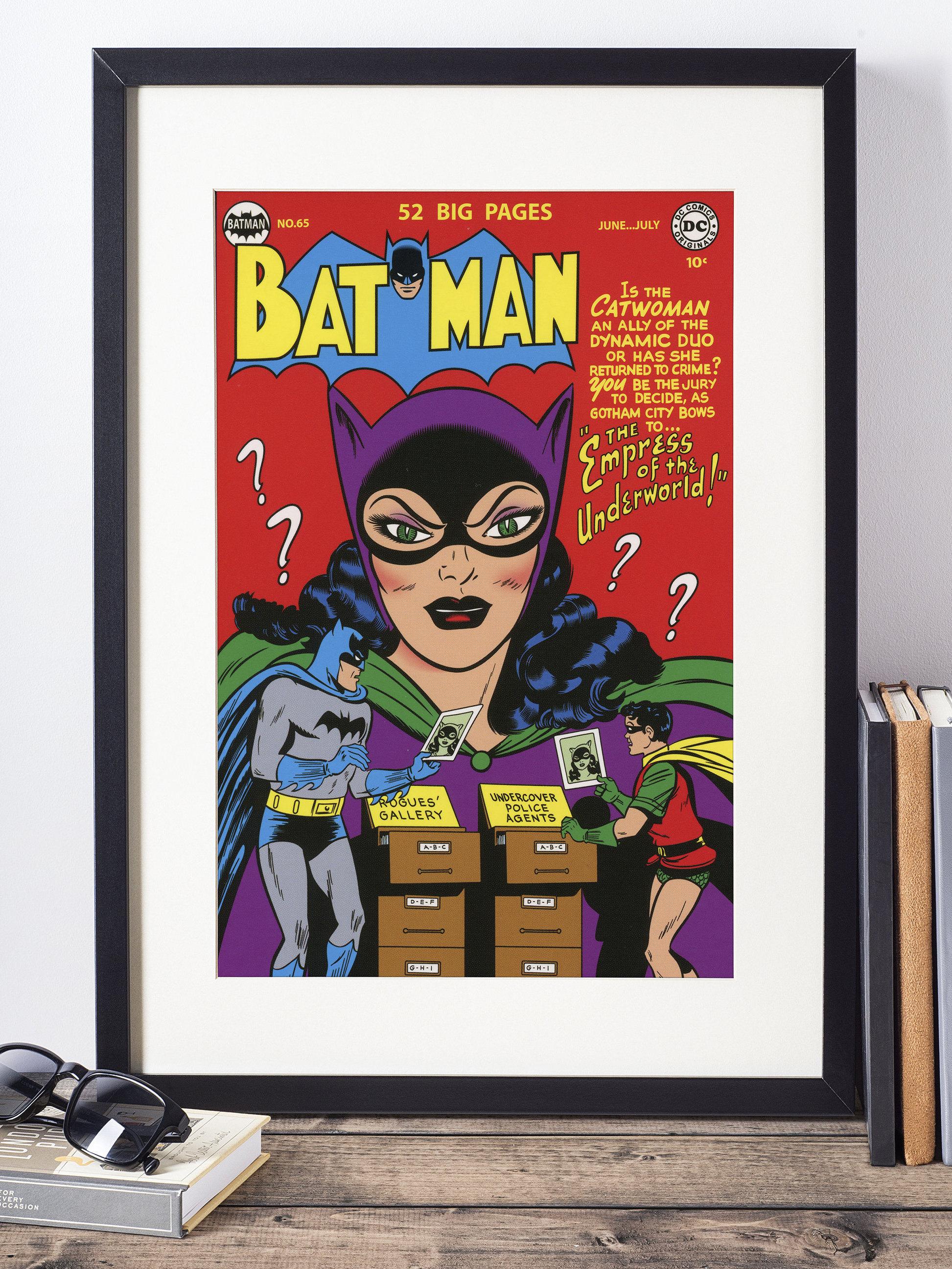 Dc Comics Wall Art Batman And Catwoman Cover Print