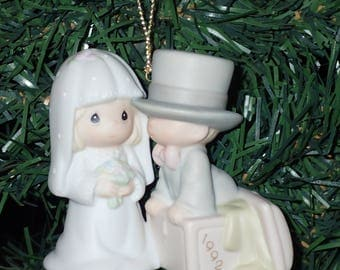 Precious Moments 1992 Our First Christmas Together Ornament #528870