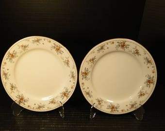 "TWO Noritake Legendary Secret Love Salad Plates 3481 8 1/4"" (Set of 2) NICE!"