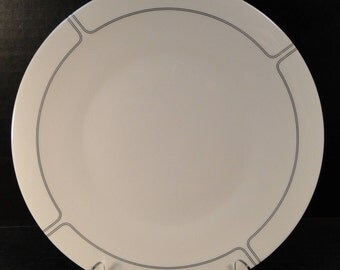 """Franciscan Silver Lining Dinner Plate 10 1-2"""" EXCELLENT!"""