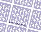 Crosses Pattern Nail Vinyls - Nail Guides for Nail Art