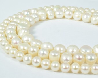 11mm Fresh Water Pearls,  Sold by 1 strand of 39pcs, 1mm hole opening , 67grams/pk