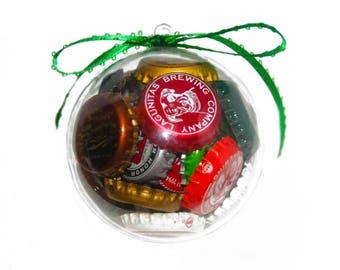 Craft Beer Bottle Cap Ornament