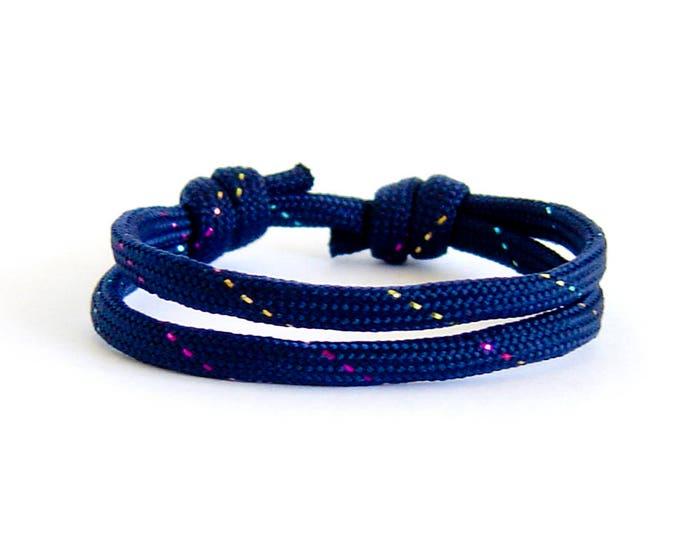 Paracord Bracelet Mens, Paracord Jewelry, Paracord Bracelet Designs. One String Rope, No Buckle, But Adjustable Knots
