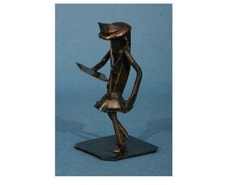 Nurse   Metal Art   Nurse figurine   Railroad spike art   Metal Art nurse   nurse gift