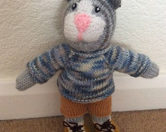 Hand knitted Boy Cat
