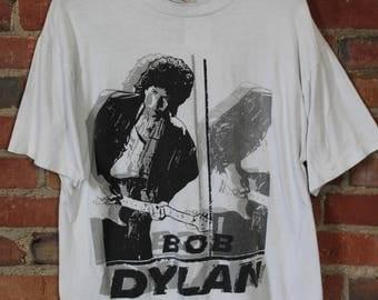 Vintage Bob Dylan 1992 Tour Concert T Shirt XL
