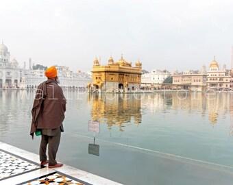 India Photography, Sikh, Golden Temple, Amritsar, Holy Lake, Sikh Photo, Sikhism, Sikh Print Art, Fine Art Photography, India Print Art