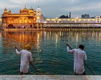 India Photography, Sikh Art, Holly Lake, Golden Temple, Amritsar, Sikhism, Sikh Print Art, Travel Photography,  India Print Art, Gold