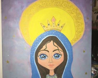 Folk Art Virgin Mary
