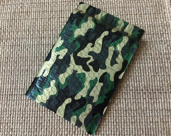 25 6x9 CAMO Designer BUBBLE Mailers Camouflage Green Gold Black Gray Self Sealing Envelopes Shipping Bags