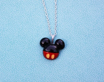 Happy Mouse Necklace - Mickey Mouse Necklace - Inspired by Mickey Mouse  - Disney Necklace - Resin Mickey Necklace