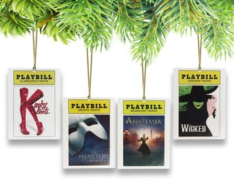 Broadway Playbill Ornament Set-(Pick and Choose from all current Broadway Shows)