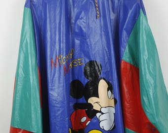 Vintage jacket, mickey mouse, 90s windbreaker, rain jacket, 90s clothing