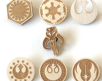 Star Wars Laser Etched Wood Pin