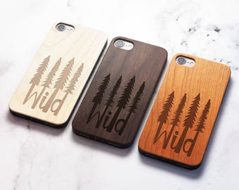 Real Wood iPhone 8 wild case also for X SE 5s 5 6 6s 7 and 7 Plus 8 Plus Case iPhone 8 Case Samsung Galaxy S6 S7 S8 Plus Real Wood