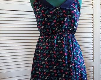 Skater Dress - Repro - Sleeveless - Print Dress - Horses