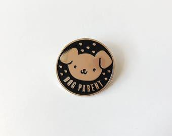 Dog Parent Soft Enamel Pin | Lapel Pin | Dog Pin | Enamel Pins | Animal Pin | Metal Plated Lapel Pin | Pin Badge | Pet Pin | Dog Pin Badge