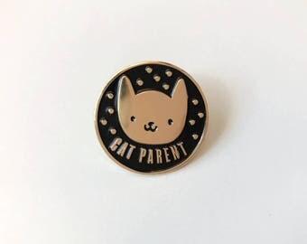 Cat Parent Soft Enamel Pin | Lapel Pin | Cat Pin | Enamel Pins | Animal Pin | Metal Plated Lapel Pin | Pin Badge | Pet Pin | Cat Pin Badge