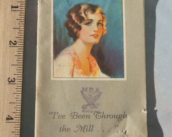 """OCCIDENT MILLING COMPANY, Russell-Miller Co., Minneapolis, Minn: """"I've Been Through the Mill"""" with N. R. A.  Advertising (1920's - 1930's ?)"""