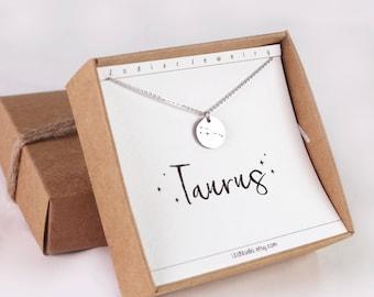 Horoscope jewelry, Taurus necklace, horoscope necklace, constellation, Taurus jewelry, zodiac necklace, Taurus, constellation, necklace