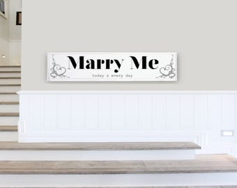 Proposal Sign - Proposal Ideas - Will You Marry Me Sign - Marry Me Proposal Sign - Engagement Photo Prop - Alternative Proposal Sign