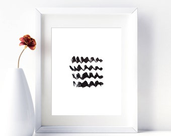 Printable Wall Art Abstract Black and White Printable Art Print Abstract Printable Artwork Print Minimalist Download Abstract Waves