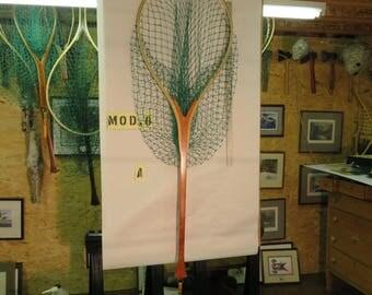 The Pike,  A Handmade Wooden Landing Net