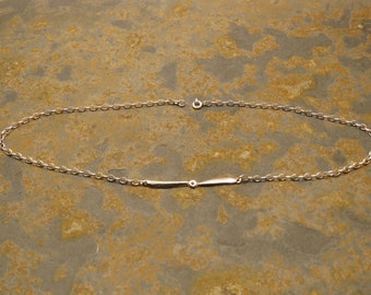 Chocker necklace with plane propeller 925 sterling silver nickel free women gift