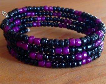 Purple-and-Black Stack Bracelet