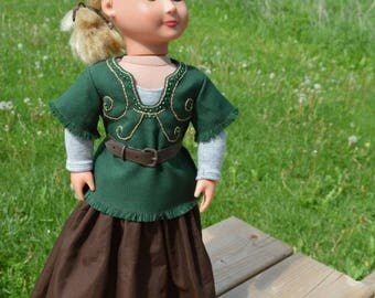 Fits American Girl- Medieval Adventurer Outfit