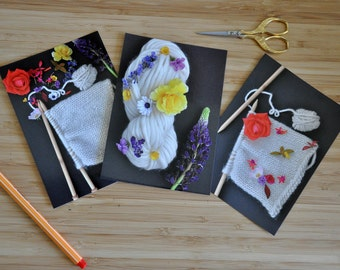 Cards postcards-photos - spring {wool & flowers}