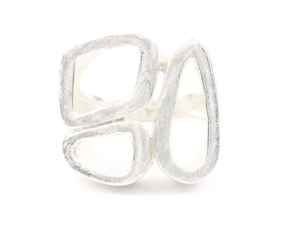 Amadeus Ring, Sterling Silver Geometry Ring, Geometric Shapes, Modern, Contemporary, Statement Piece, Boho, Gypsy, Festival Jewelry