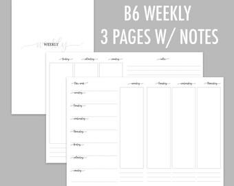 B6 TN Weekly on 3 PGES + Notes (Undated)