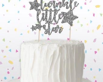 Twinkle Twinkle Little Star Cake Topper - Baby Shower Cake Topper