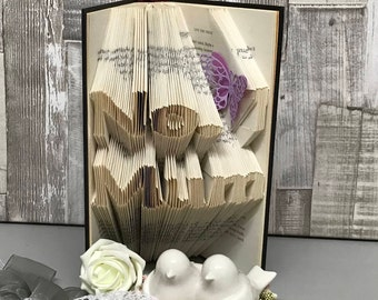 Learn how to make folded book art online, book folding classes, online origami lessons, online lessons, stress relieving hobbies, origami