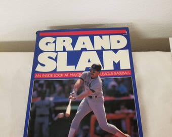 Vintage Baseball Book, Grand Slam, Inside the Major Leagues, Collector baseball, Sports memoribilia, Sports book, Vintage Baseball