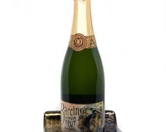 Wine Bottle Holder - Hostess Gift - Sparkly Wine Bottle Holder  - Champagne Holder - Wine Tasting - Wine Lover Gift - Candle Holder - 1112
