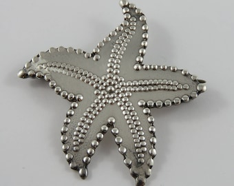 Mexican Sterling Silver Star Fish Brooch