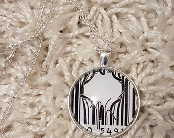 Barcode Break-out | 30mm Glass Pendant Necklace | Handmade in Scotland