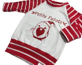 Grow with me top '' Petite Patate '' CHRISTMAS